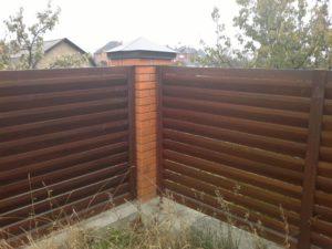 Забор из сосны