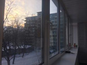 Балкон из сосны